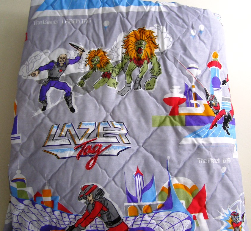 Lazer Tag Bed Cover