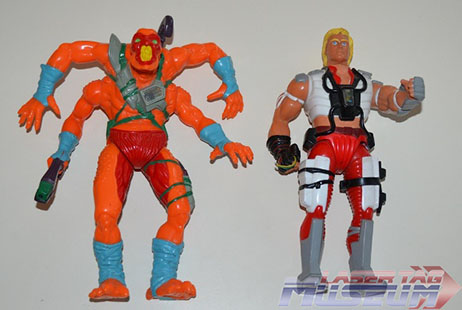 Warrior and Bhodi Li action figures